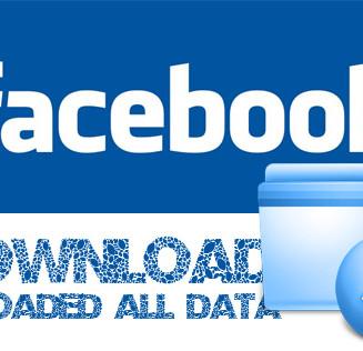 Facebookデータダウンロード