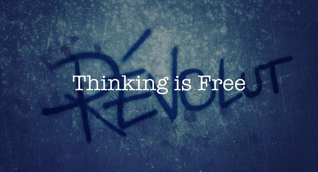 考えることは自由だ。