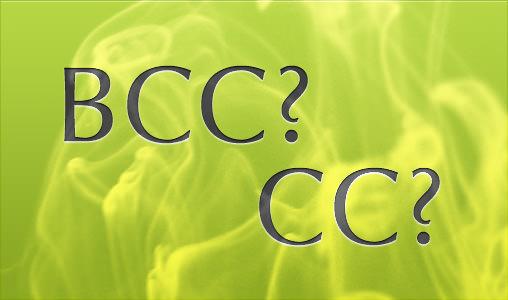 メールのBCCとCC